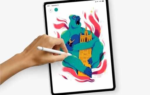 iPad Pro concept met Pencil.