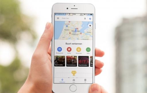 Verkennen met Google Maps.