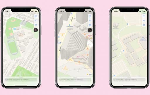 Apple Maps kaarten en gebouwen vernieuwd.