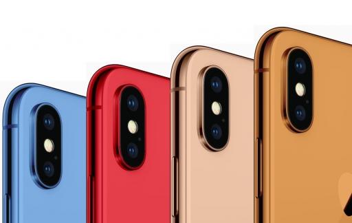 iPhone 2018 in verschillende kleuren.