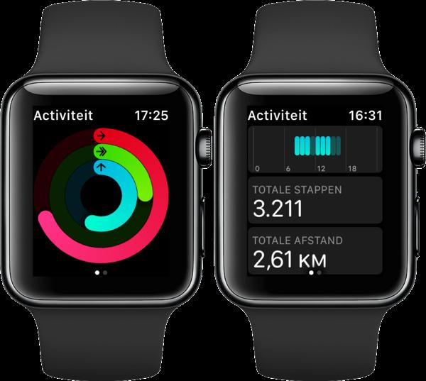 Stappenteller op Apple Watch.