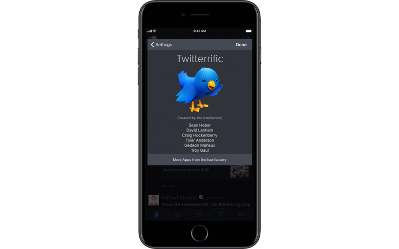 Twitterrific for iOS app