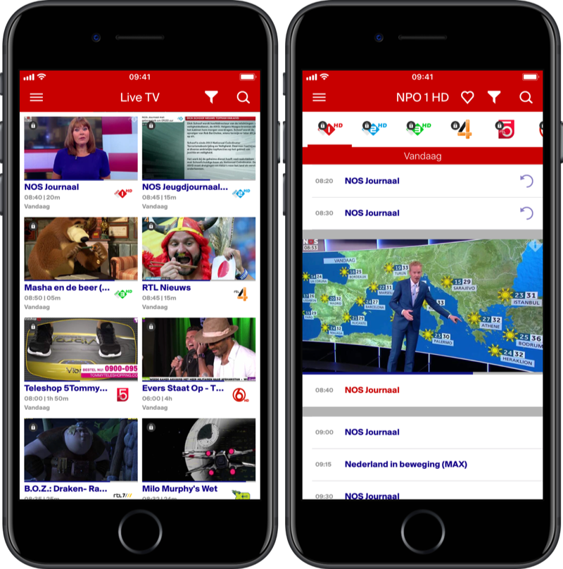 Canal Digitaal live tv-app.