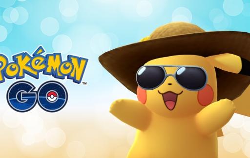 Pokémon Go tweede verjaardag met Pikachu.