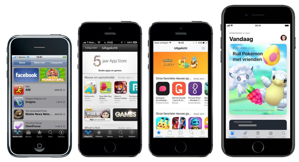 App Store 10 jaar uitgelicht.