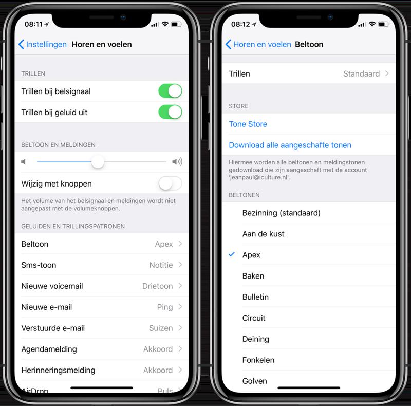 Ringtone instellen op iPhone