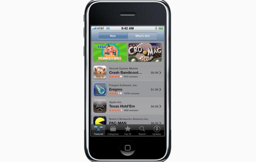 iPhone met App Store voor 10 jarig jubileum.