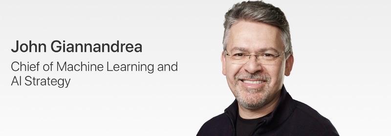 John Giannandrea bij Apple.
