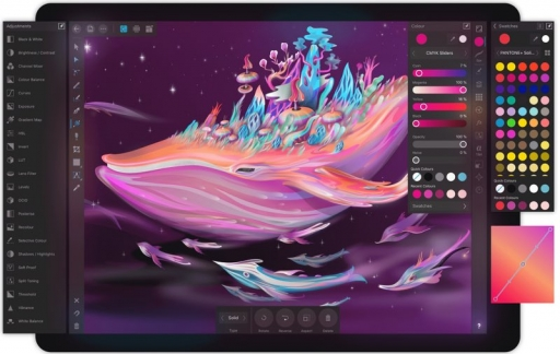 Affinity Designer op iPad