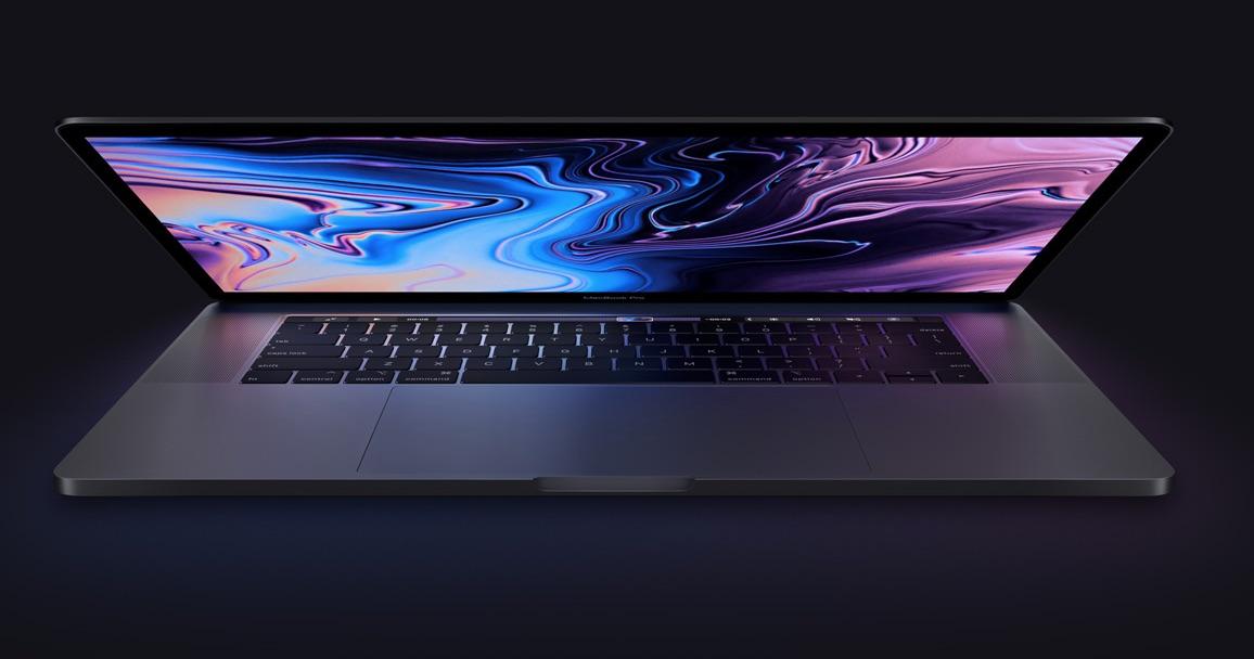 MacBook Pro 2018 met scherm.