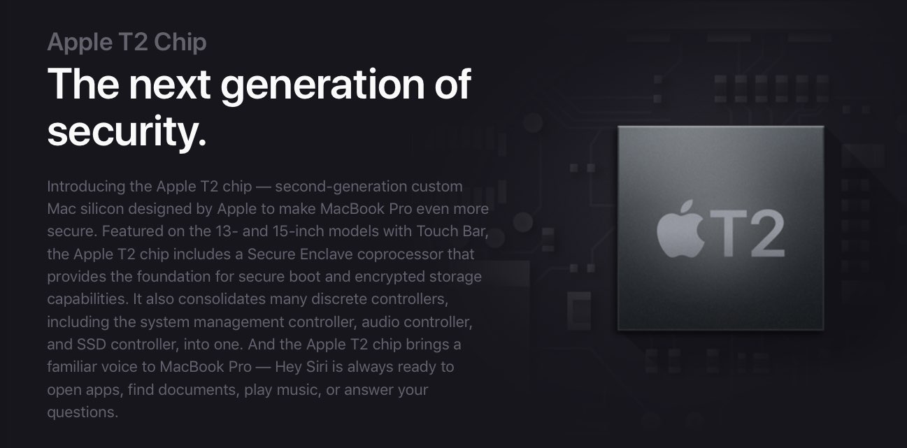 Apple T2 chip, 2e generatie