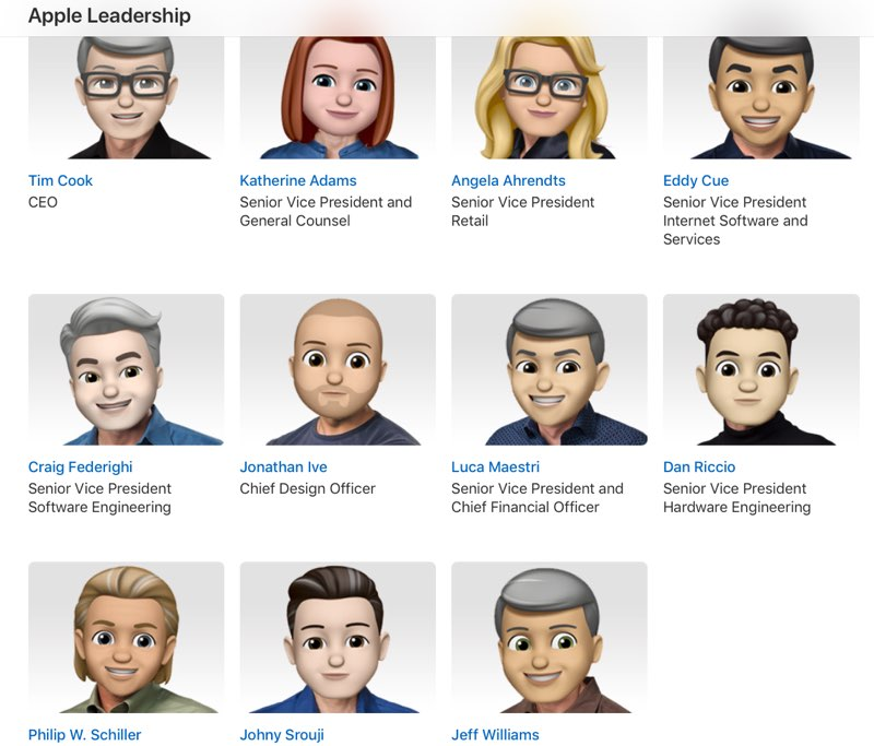 Memoji Apple-topmensen