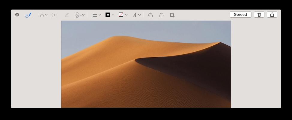 Screenshot macOS Mojave bewerken