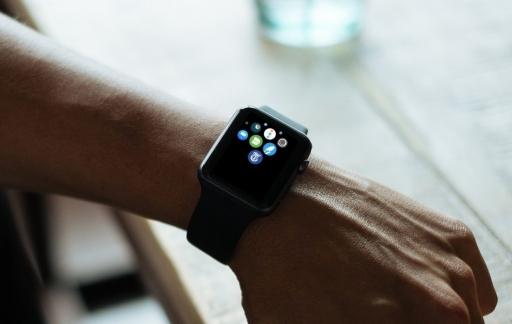 De Telegraaf op Apple Watch met icoontje.