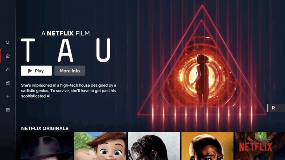 Netflix-app met design voor tv-app.