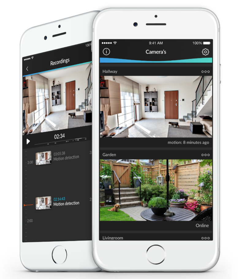 HomeWizard Cameras voor iPhone.