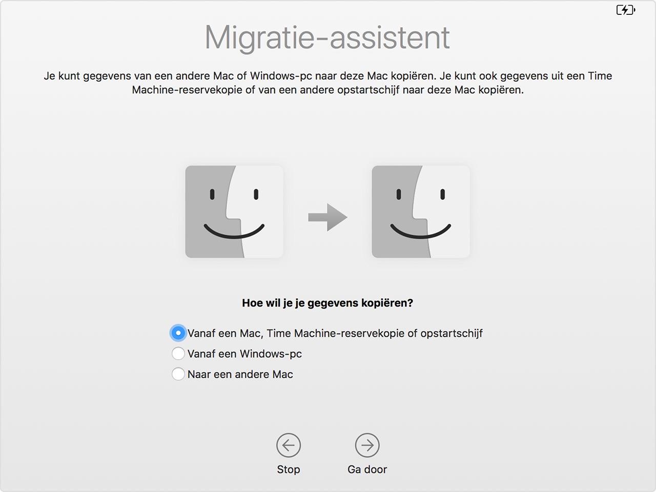 Migratie-assistent.