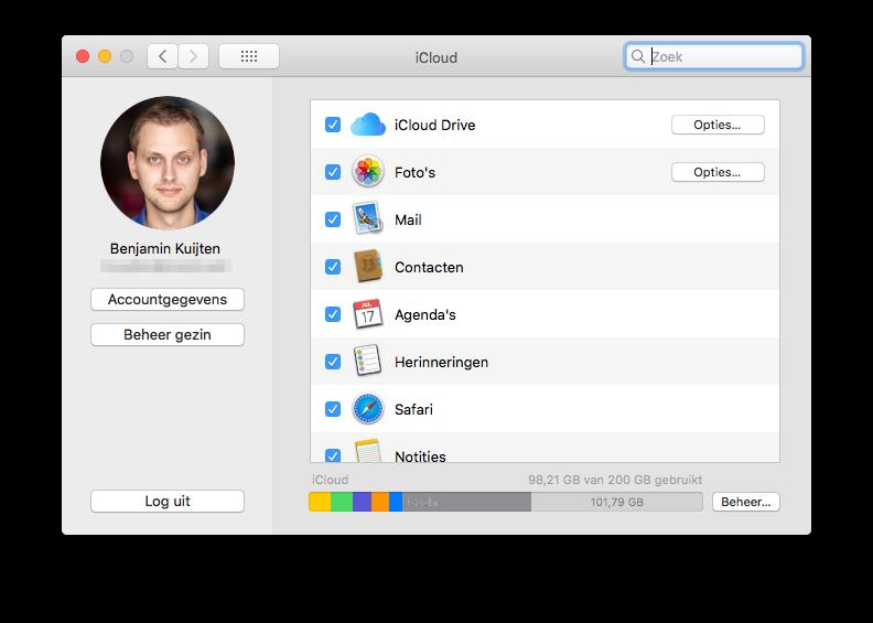 iCloud uitloggen op een Mac.