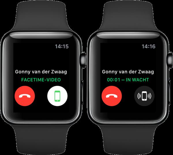 FaceTime op Apple Watch beantwoorden.