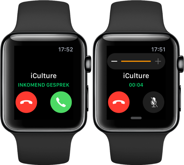 Bellen op de Apple Watch.