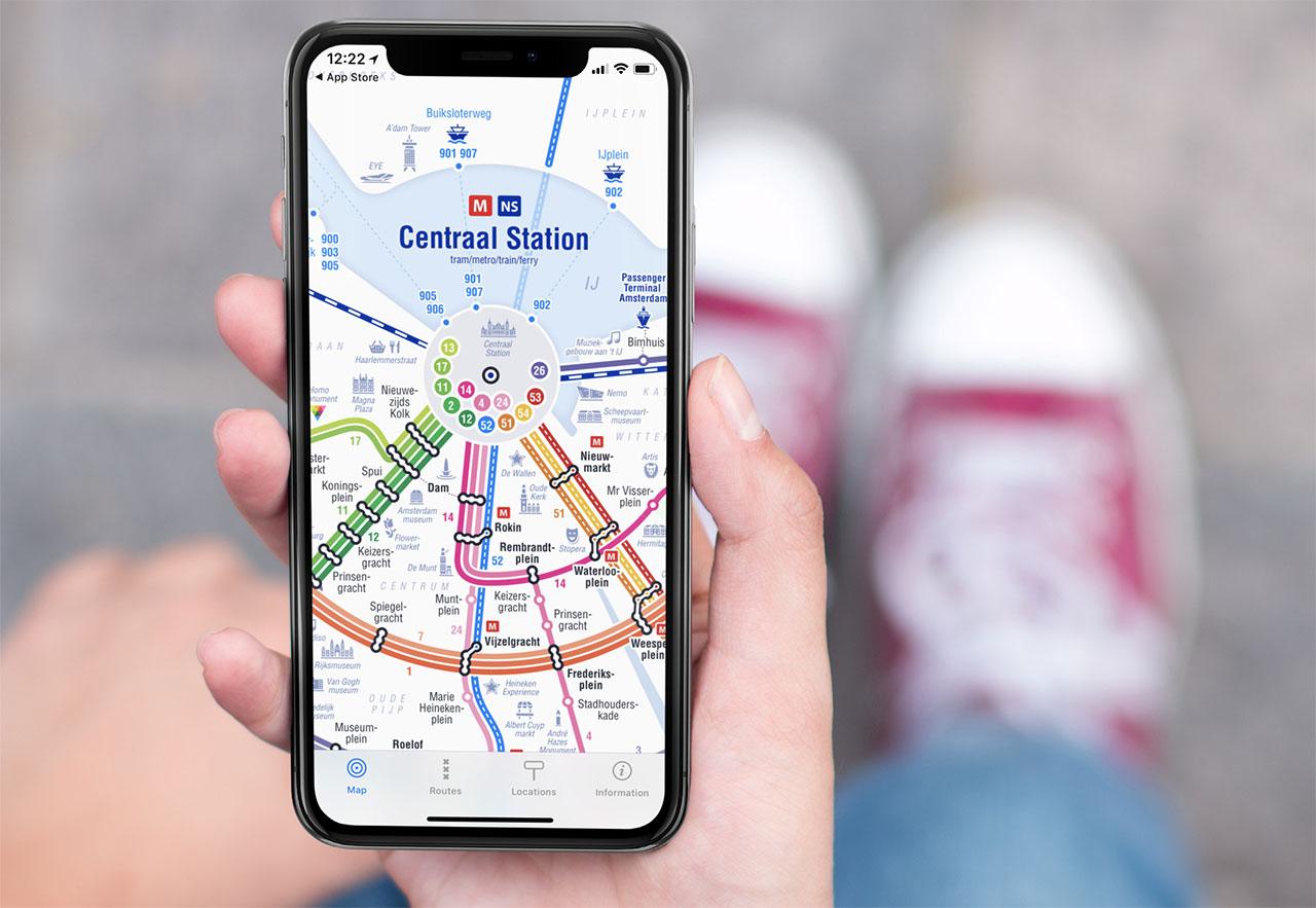 Openbaar vervoer-apps