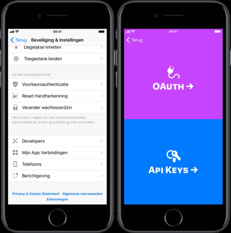 bunq API-key opvragen voor koppeling met Rabobank.
