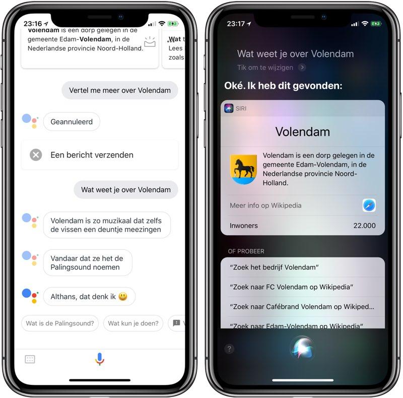 Volendam: Assistent vs Siri