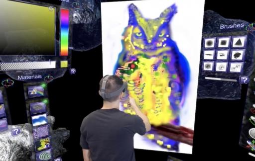 Cyber Paint tekening in VR.