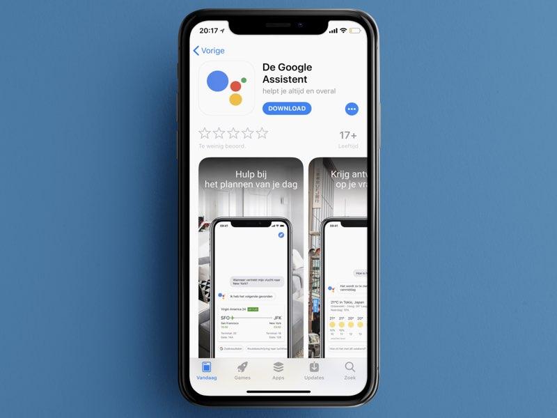 Google Assistant in Nederlandse App Store