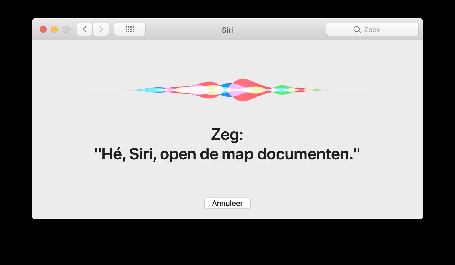 He Siri op de Mac inspreken.