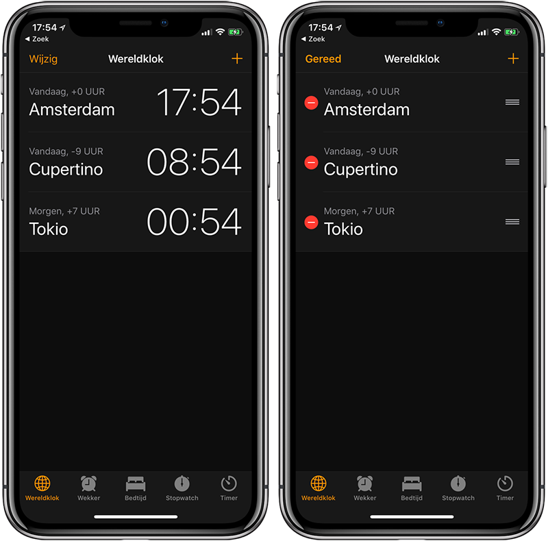 Wereldklok iPhone