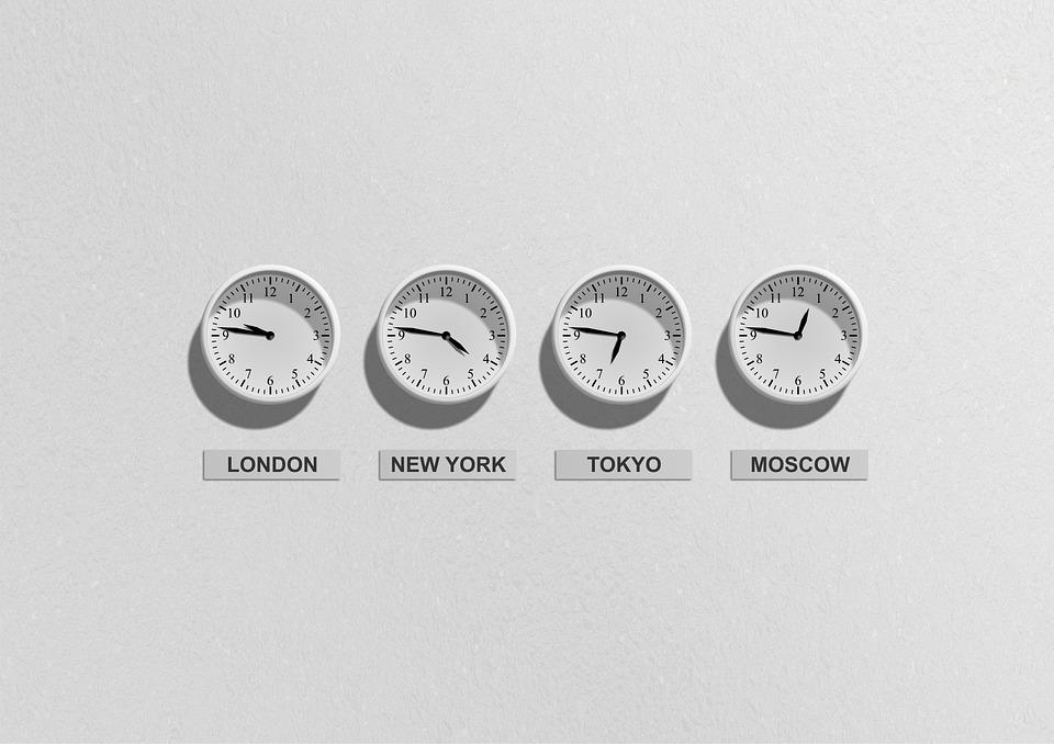 Wereldklokken met tijdzones
