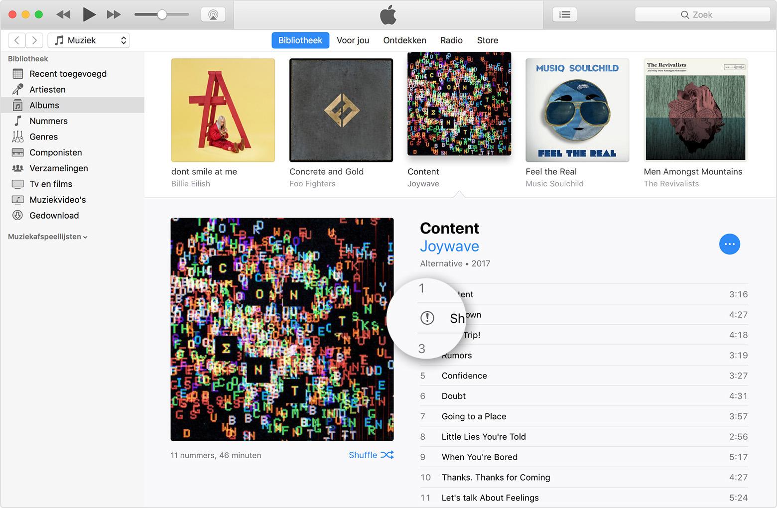 iTunes met uitroepteken.