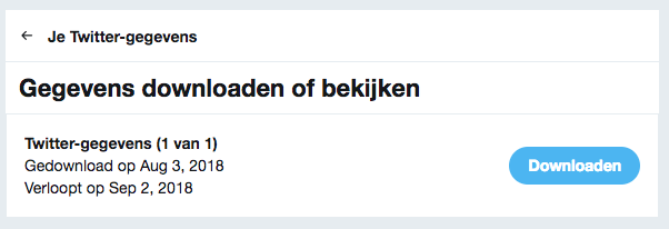 Twitter archief