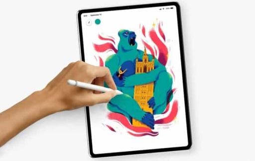 iPad Pro met ronde hoeken