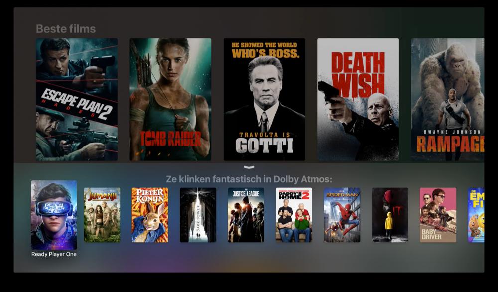 Siri in tvOS 12 vragen om Dolby Atmos.