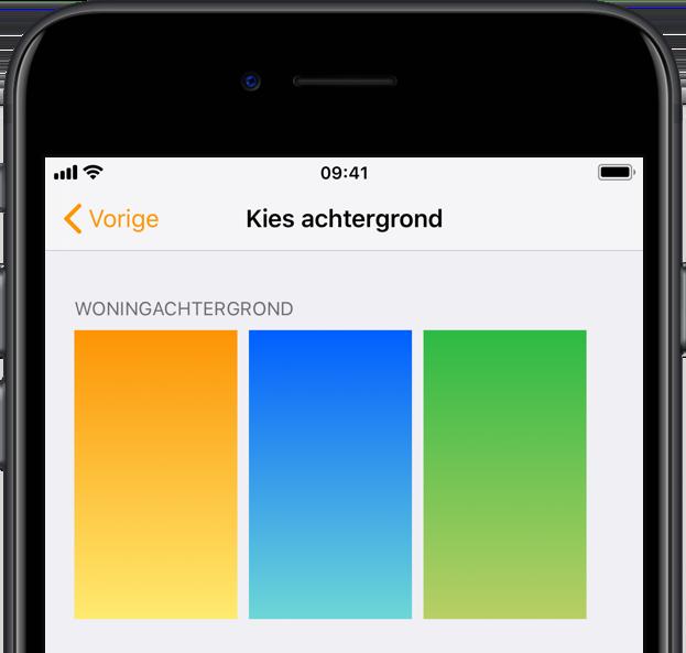 Woning-achtergronden in iOS 12.