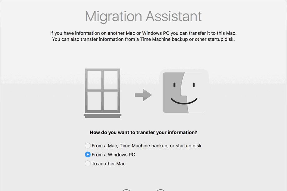 macOS Migratie-assistent