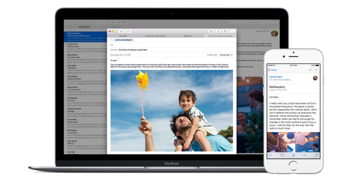 Mail op Mac en iPhone