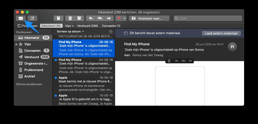 Mail lezen op de Mac