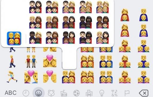 Emoji 2019 gezinnen