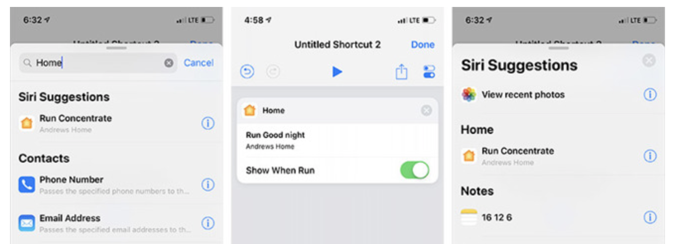 Siri Shortcuts met HomeKit