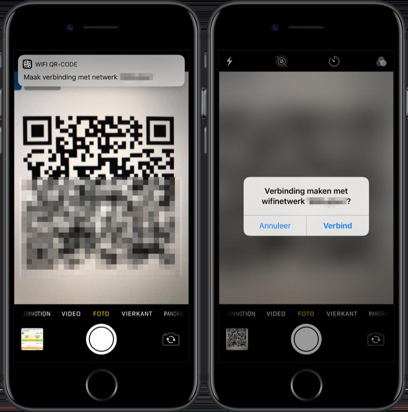 Wi-Fi-wachtwoord scannen met QR-code.