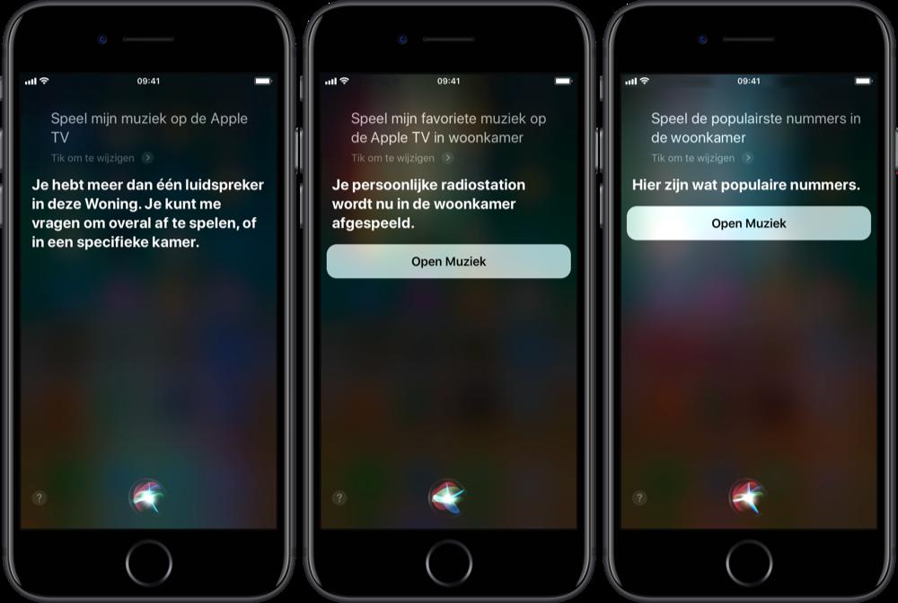 Muziek bedienen met Siri en AirPlay 2.