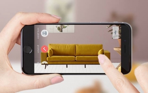 Wehkamp met augmented reality-functie.