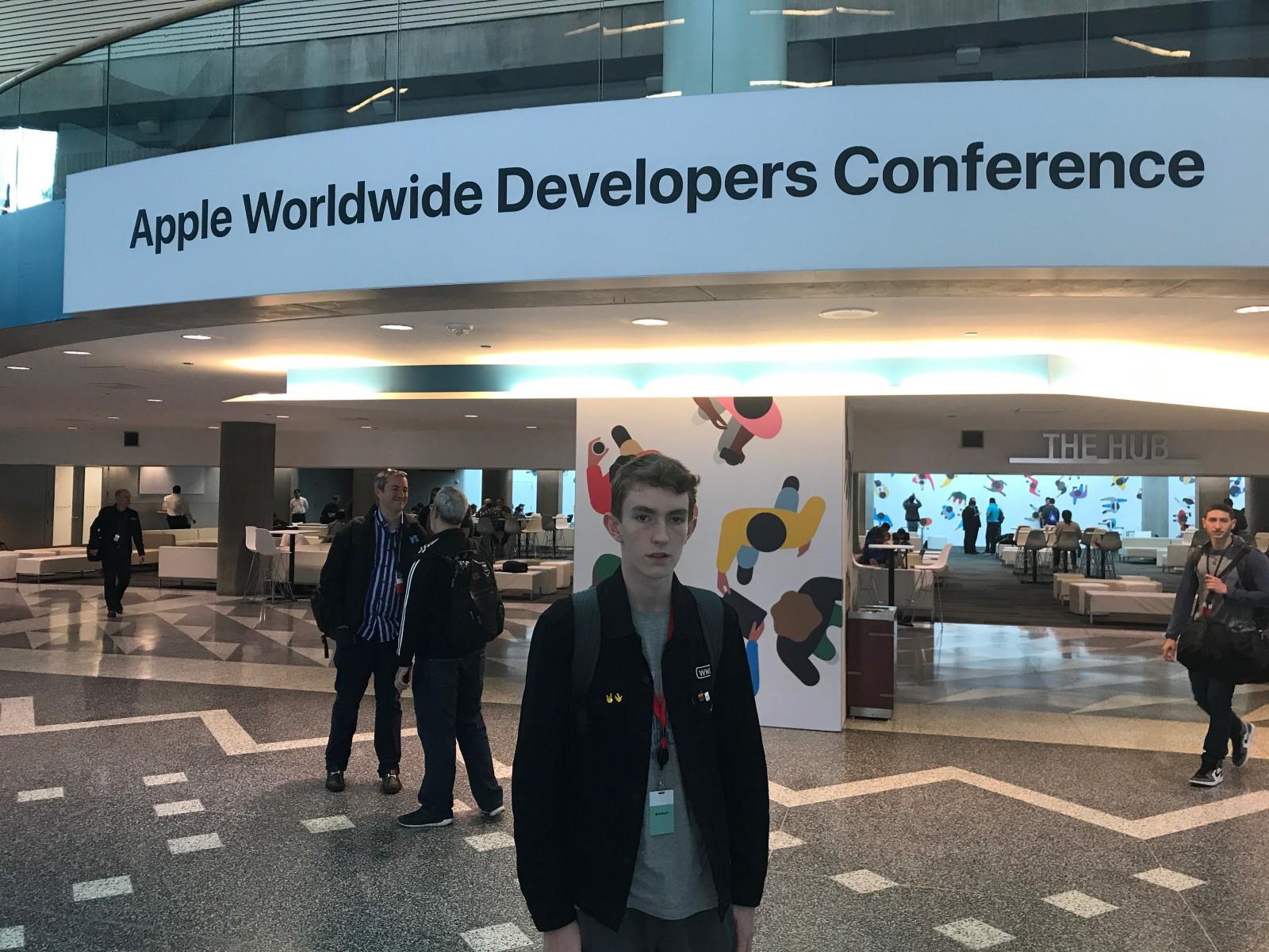Jari Koopman tijdens de WWDC 2017.