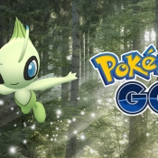 Celebi in Pokémon Go.