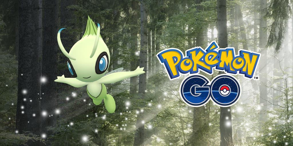 Celebi in Pokémon Go.