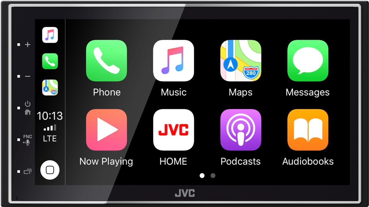 JVC KW-M745DBT met CarPlay.