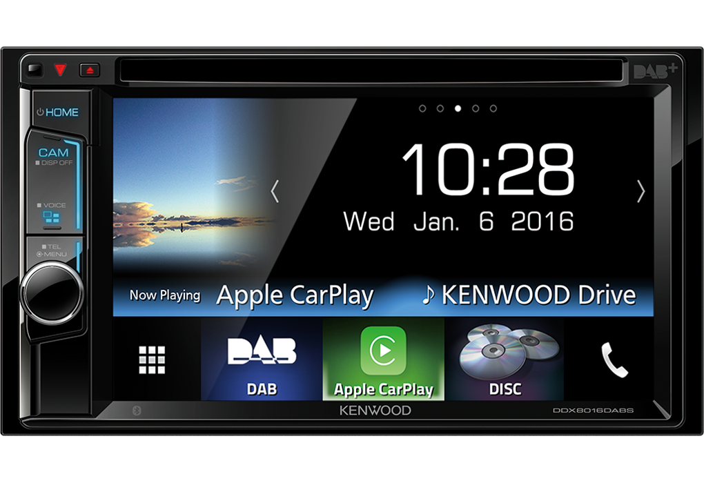 KenWood DDX8016DABS met CarPlay.